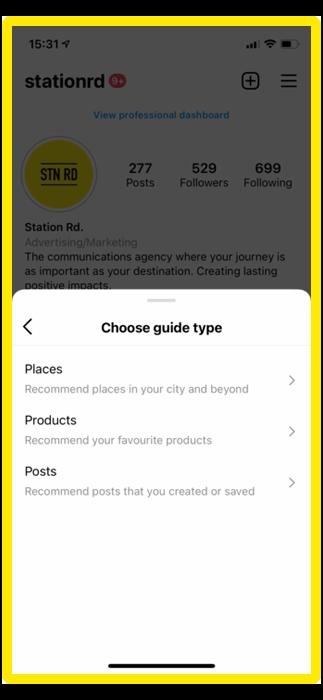 instagram guide types