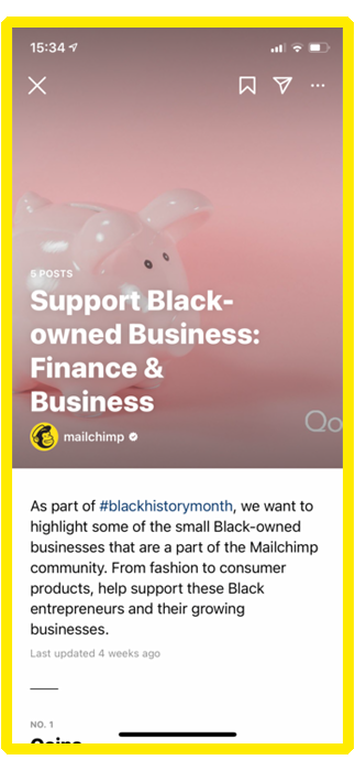 mailchimp instagram guide